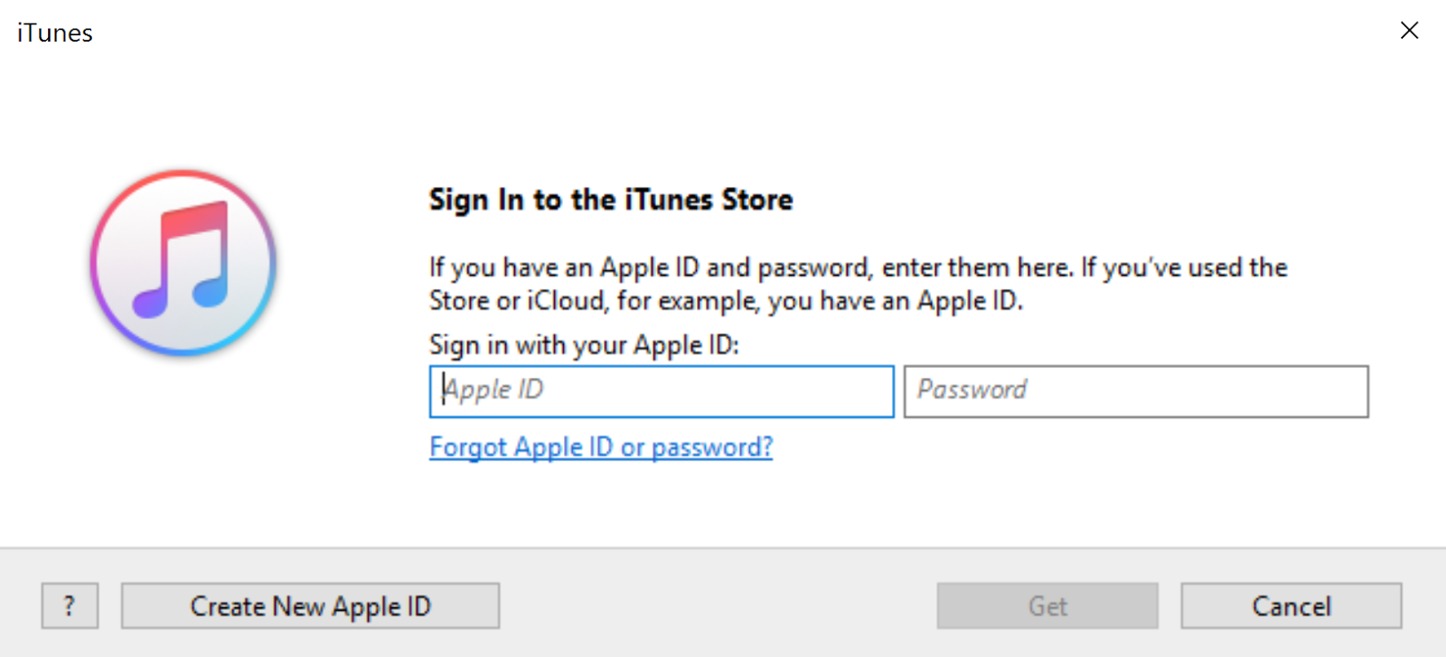 In The Popup Windows Click On Create New Apple ID