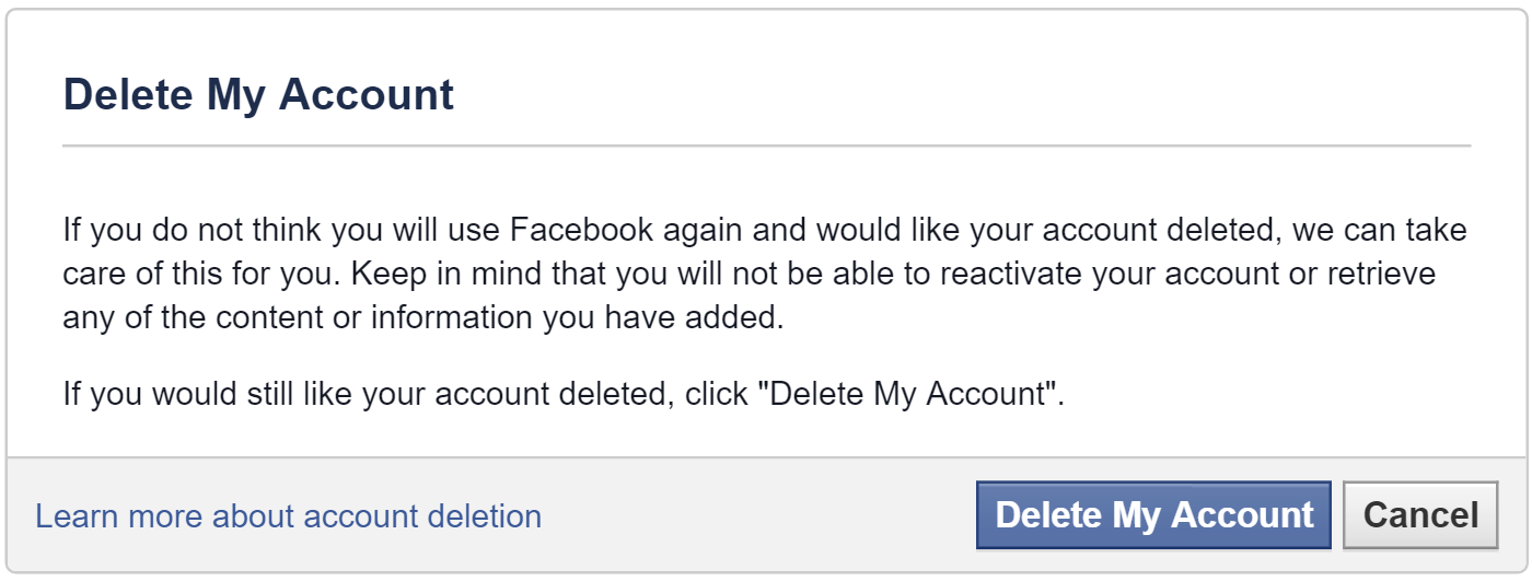 How to delete your Facebook account - 48.4KB